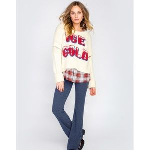 NWT Wildfox Ice Cold Sweater